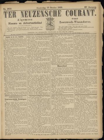 Ter Neuzensche Courant. Algemeen Nieuws- en Advertentieblad voor Zeeuwsch-Vlaanderen / Neuzensche Courant ... (idem) / (Algemeen) nieuws en advertentieblad voor Zeeuwsch-Vlaanderen 1899-10-19