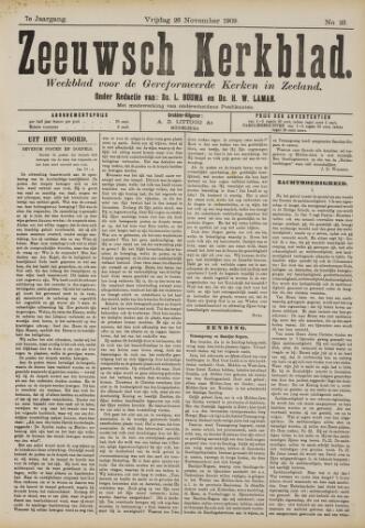 Zeeuwsche kerkbode, weekblad gewijd aan de belangen der gereformeerde kerken/ Zeeuwsch kerkblad 1909-11-26