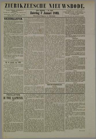 Zierikzeesche Nieuwsbode 1893-01-07