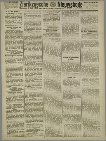 Zierikzeesche Nieuwsbode 1917-10-03