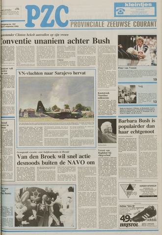Provinciale Zeeuwse Courant 1992-08-21