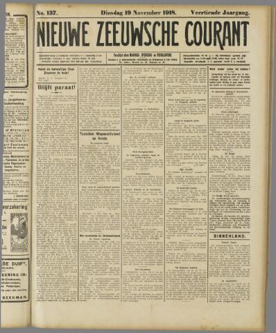 Nieuwe Zeeuwsche Courant 1918-11-19