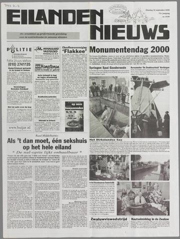 Eilanden-nieuws. Christelijk streekblad op gereformeerde grondslag 2000-09-12