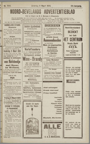 Noord-Bevelands Nieuws- en advertentieblad 1926-03-06