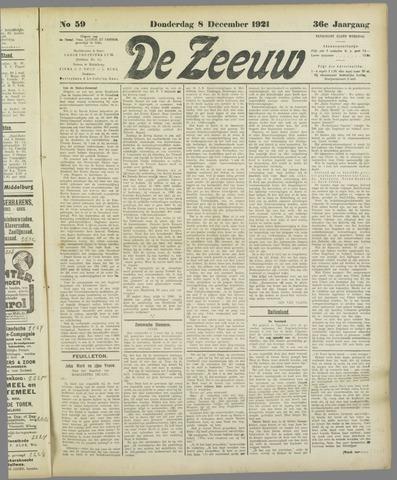 De Zeeuw. Christelijk-historisch nieuwsblad voor Zeeland 1921-12-08