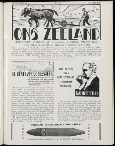 Ons Zeeland / Zeeuwsche editie 1927-04-30