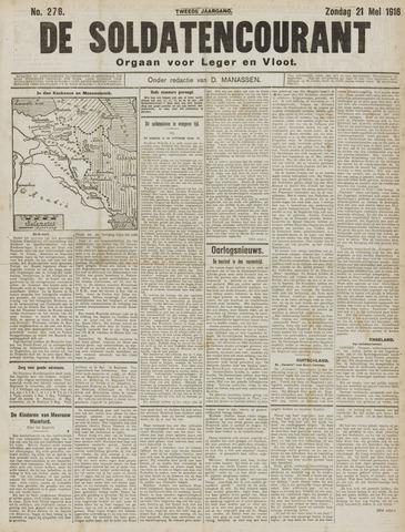 De Soldatencourant. Orgaan voor Leger en Vloot 1916-05-21