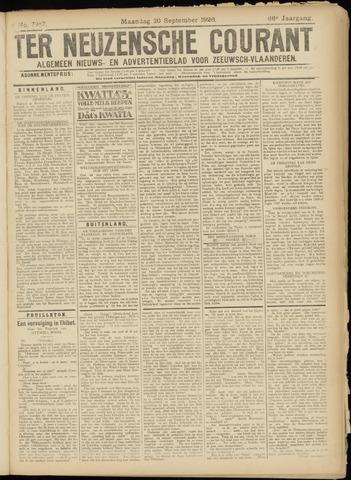 Ter Neuzensche Courant. Algemeen Nieuws- en Advertentieblad voor Zeeuwsch-Vlaanderen / Neuzensche Courant ... (idem) / (Algemeen) nieuws en advertentieblad voor Zeeuwsch-Vlaanderen 1926-09-20