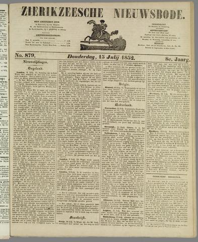 Zierikzeesche Nieuwsbode 1852-07-15