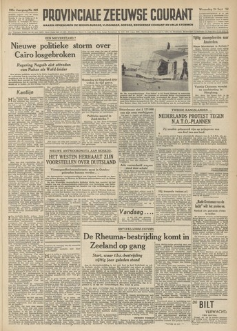 Provinciale Zeeuwse Courant 1952-09-24