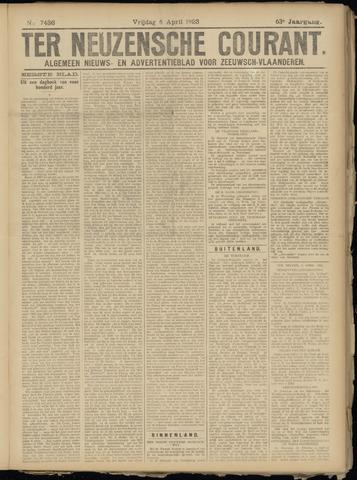 Ter Neuzensche Courant. Algemeen Nieuws- en Advertentieblad voor Zeeuwsch-Vlaanderen / Neuzensche Courant ... (idem) / (Algemeen) nieuws en advertentieblad voor Zeeuwsch-Vlaanderen 1923-04-06