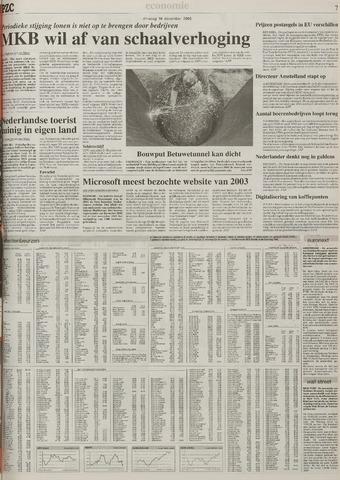 Provinciale Zeeuwse Courant 16 December 2003 Pagina 7