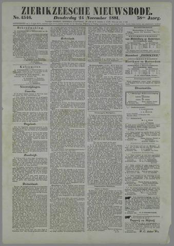 Zierikzeesche Nieuwsbode 1881-11-24