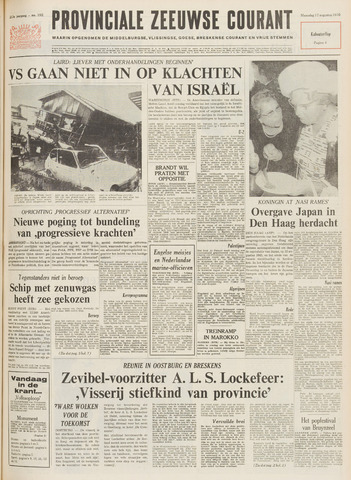 Provinciale Zeeuwse Courant 1970-08-17