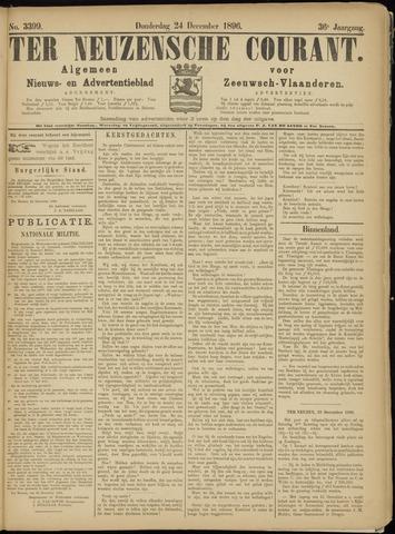 Ter Neuzensche Courant. Algemeen Nieuws- en Advertentieblad voor Zeeuwsch-Vlaanderen / Neuzensche Courant ... (idem) / (Algemeen) nieuws en advertentieblad voor Zeeuwsch-Vlaanderen 1896-12-24