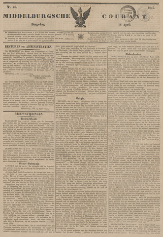 Middelburgsche Courant 1843-04-18