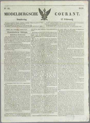 Middelburgsche Courant 1859-02-07