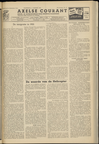 Axelsche Courant 1956-01-11