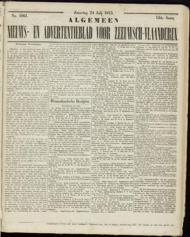 Ter Neuzensche Courant. Algemeen Nieuws- en Advertentieblad voor Zeeuwsch-Vlaanderen / Neuzensche Courant ... (idem) / (Algemeen) nieuws en advertentieblad voor Zeeuwsch-Vlaanderen 1875-07-24