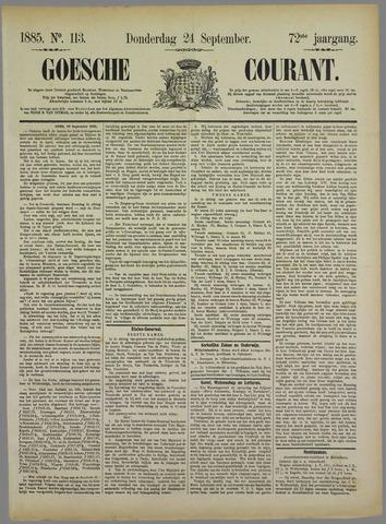 Goessche Courant 1885-09-24