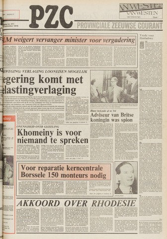 Provinciale Zeeuwse Courant 1979-11-16