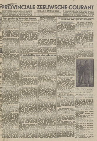 Provinciale Zeeuwse Courant 1943-01-29