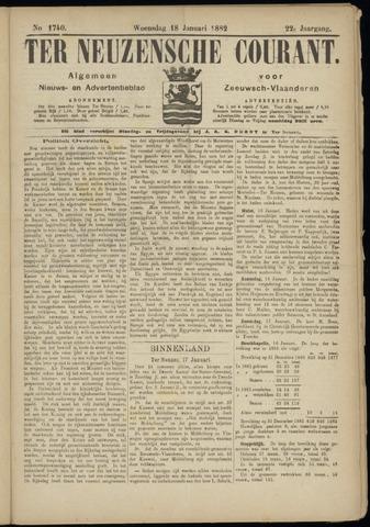 Ter Neuzensche Courant. Algemeen Nieuws- en Advertentieblad voor Zeeuwsch-Vlaanderen / Neuzensche Courant ... (idem) / (Algemeen) nieuws en advertentieblad voor Zeeuwsch-Vlaanderen 1882-01-18