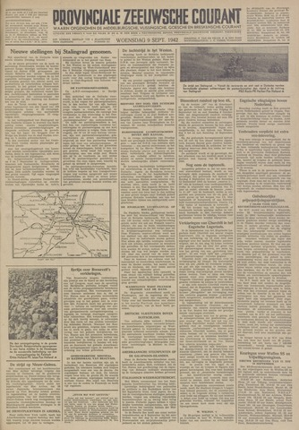 Provinciale Zeeuwse Courant 1942-09-09