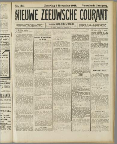 Nieuwe Zeeuwsche Courant 1918-12-07