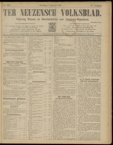 Ter Neuzensch Volksblad. Vrijzinnig nieuws- en advertentieblad voor Zeeuwsch- Vlaanderen / Zeeuwsch Nieuwsblad. Nieuws- en advertentieblad voor Zeeland 1916-08-05
