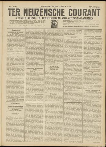 Ter Neuzensche Courant. Algemeen Nieuws- en Advertentieblad voor Zeeuwsch-Vlaanderen / Neuzensche Courant ... (idem) / (Algemeen) nieuws en advertentieblad voor Zeeuwsch-Vlaanderen 1939-09-13
