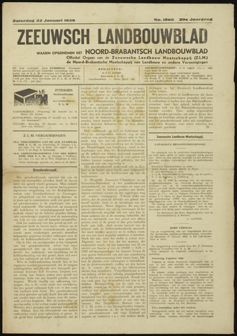 Zeeuwsch landbouwblad ... ZLM land- en tuinbouwblad 1938