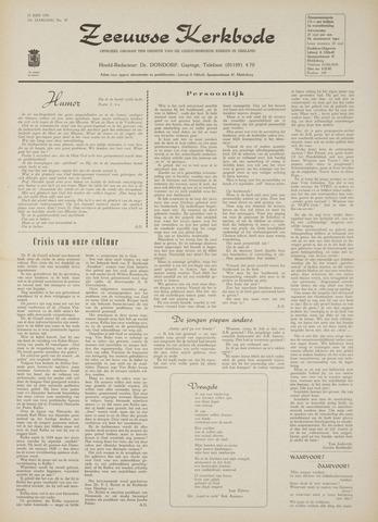 Zeeuwsche kerkbode, weekblad gewijd aan de belangen der gereformeerde kerken/ Zeeuwsch kerkblad 1970-06-25