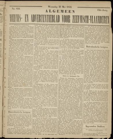 Ter Neuzensche Courant. Algemeen Nieuws- en Advertentieblad voor Zeeuwsch-Vlaanderen / Neuzensche Courant ... (idem) / (Algemeen) nieuws en advertentieblad voor Zeeuwsch-Vlaanderen 1873-05-21