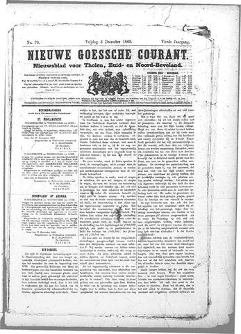 Nieuwe Goessche Courant 1869-12-03