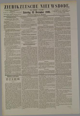 Zierikzeesche Nieuwsbode 1891-12-12