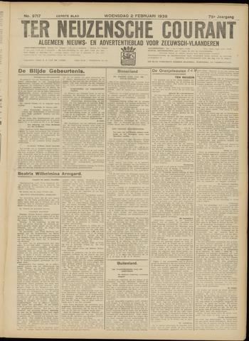Ter Neuzensche Courant. Algemeen Nieuws- en Advertentieblad voor Zeeuwsch-Vlaanderen / Neuzensche Courant ... (idem) / (Algemeen) nieuws en advertentieblad voor Zeeuwsch-Vlaanderen 1938-02-02