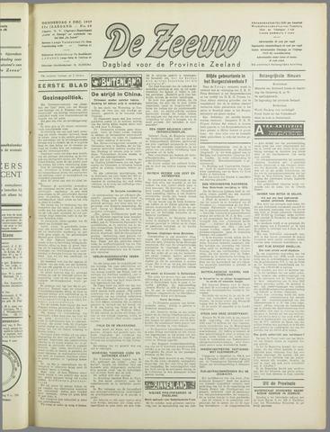 De Zeeuw. Christelijk-historisch nieuwsblad voor Zeeland 1937-12-09