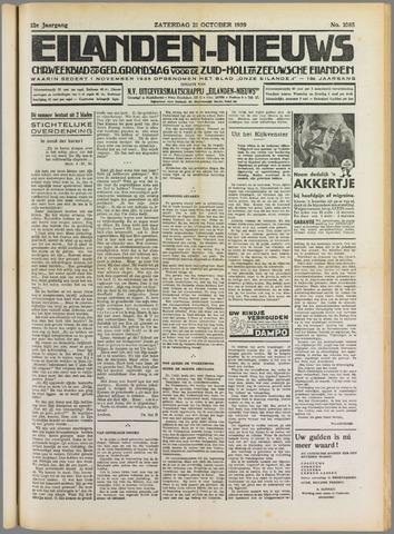 Eilanden-nieuws. Christelijk streekblad op gereformeerde grondslag 1939-10-21