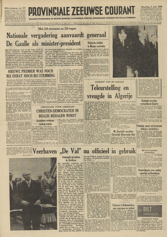 Provinciale Zeeuwse Courant 1958-06-02