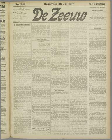 De Zeeuw. Christelijk-historisch nieuwsblad voor Zeeland 1917-07-26