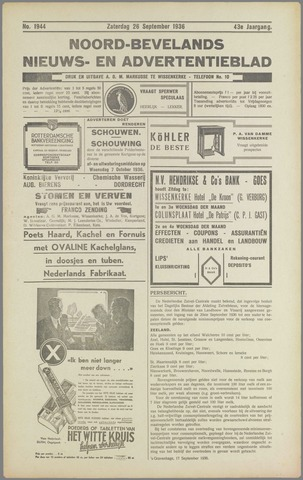 Noord-Bevelands Nieuws- en advertentieblad 1936-09-26