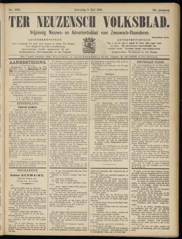 Ter Neuzensch Volksblad. Vrijzinnig nieuws- en advertentieblad voor Zeeuwsch- Vlaanderen / Zeeuwsch Nieuwsblad. Nieuws- en advertentieblad voor Zeeland 1911-07-08