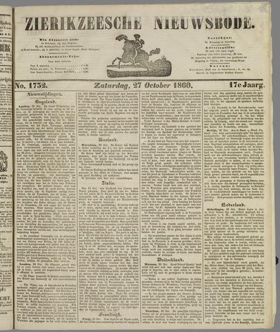 Zierikzeesche Nieuwsbode 1860-10-27