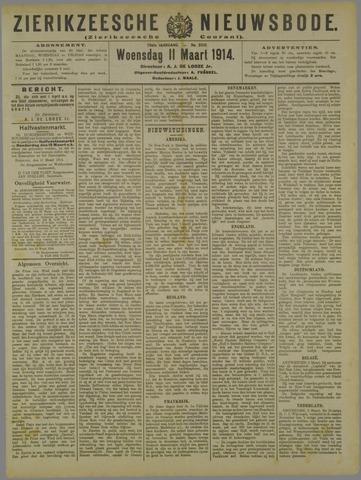 Zierikzeesche Nieuwsbode 1914-03-11