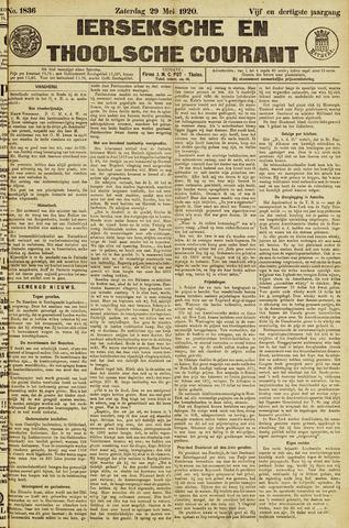 Ierseksche en Thoolsche Courant 1920-05-29