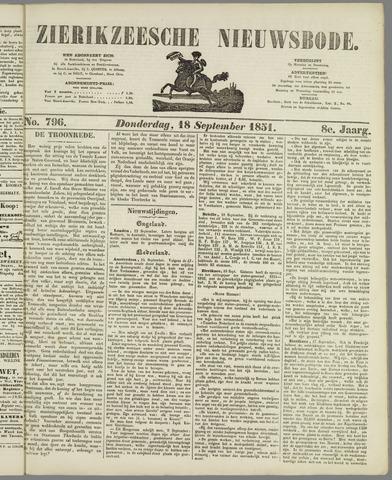 Zierikzeesche Nieuwsbode 1851-09-18