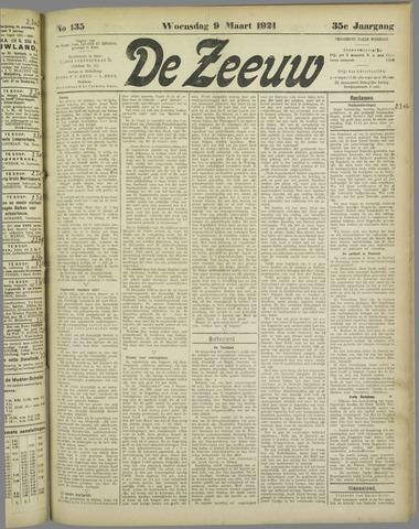 De Zeeuw. Christelijk-historisch nieuwsblad voor Zeeland 1921-03-09