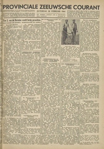 Provinciale Zeeuwse Courant 1944-02-26