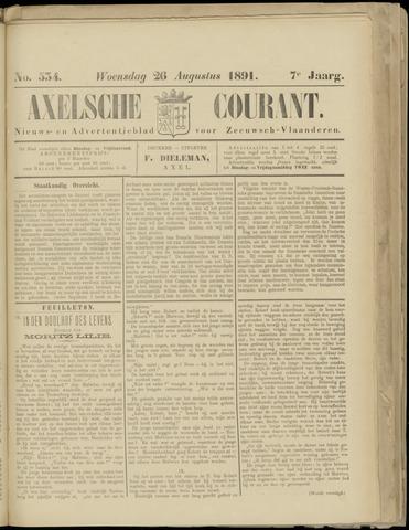 Axelsche Courant 1891-08-26